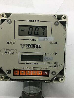 TMTR-510 Totalizer Flow Meter Battery Operated 6700 Element Stainless GPM Gallon