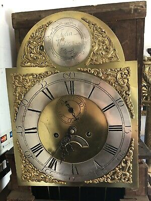 Good Antique 8 Day Longcase Clock Movement And Dial John Watson Kirby Ready 2 Go
