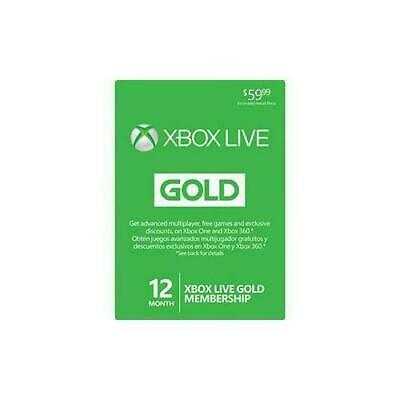 Microsoft Xbox Live 12 Month Gold Membership For Xbox One Xbox 360