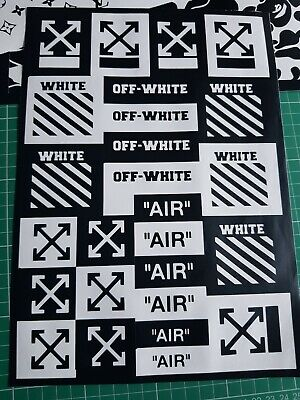Custom vinyl stencil x2 A4,  for, Airbrush, Painting, trainers, decals