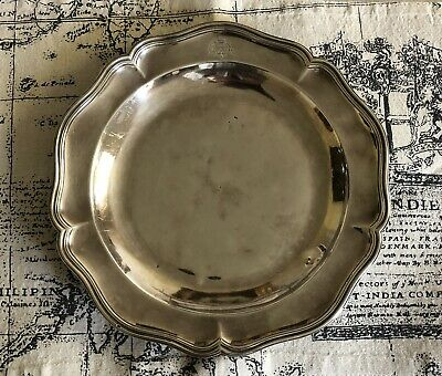 Large French 18th century silver dinner plate