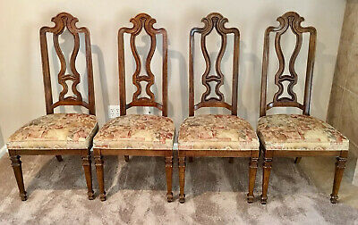 Vintage DREXEL Talavera 'Spanish Revival' 4 Dining Room Chairs Four Chair EUC