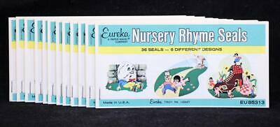 36 Seals in Each Twelve 12 Eureka Nursery Rhyme Seal Booklets U.S.A.