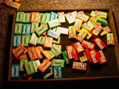 Vintage  Lot #1 82 Sm. Packages Gum  Beechies, Chiclets & Romy Assorted Flavors