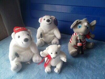 Coca-Cola Bean Bag Plush Toys-4 In Lot