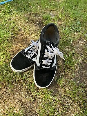 Mens Womens Size 8 VANS Off The Wall Black Suede