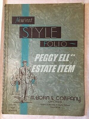 1938 Spring & Summer M.born & Co. Chicago Men's Fashion Catalog Spiral Bound