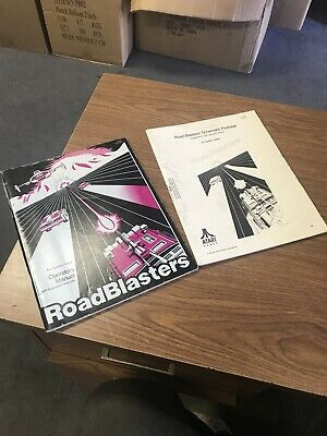 Atari Road Blasters Arcade Operating Manual And Schematic Package Supplement