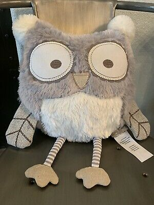Levtex Home Baby • Night Owl Pillow • Plush • Taupe Gray Soft