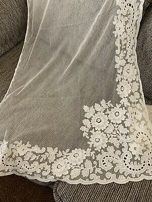 Gorgeous Tambour Lace Curtain Panel.. Remnant Lace