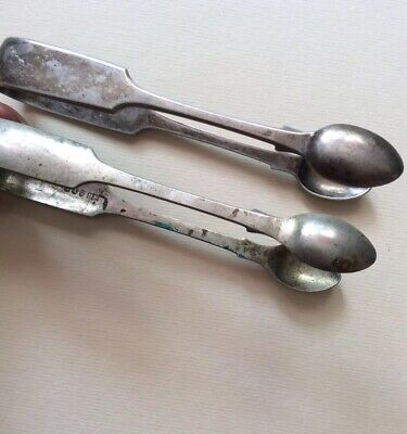 2 Silver Plated / Epns Sugar Tongs Vintage Fine Dining Afternoon Tea  Cutlery
