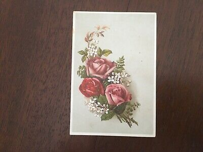 Lion Coffee Trade Card, Woolson Spice Co, Toledo Ohio, Roses