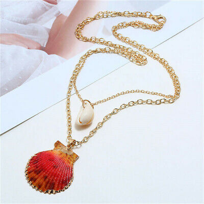 Gifts Womens Necklaces Vintage Chain Choker Sweater Chains Beach Trendy Shell