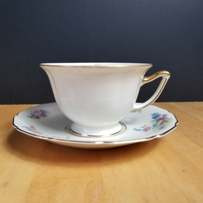 Thomas Ivory Thomas Bavaria The Wentworth Footed Tea Cup & Saucer