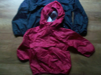 Girls Next Pink rain coat pack away waterproof hooded cagule Age 3 Years BNWT