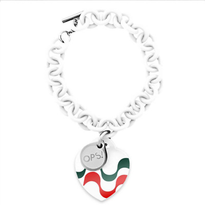 OPS OBJECT pulsera mujer Cup Edition OPSBR-2014 tricolor silicona blanca copa
