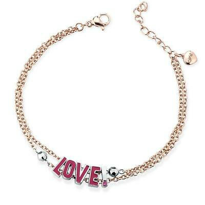 OPS OBJECT Bracciale donna Words OPSBR-582 acciaio oro rosa Love AMORE originale
