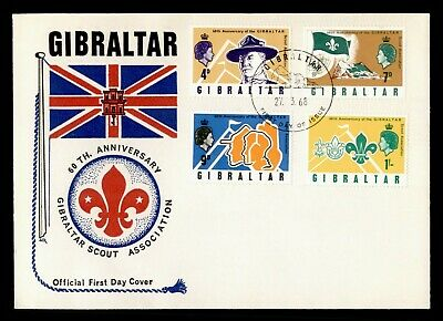 Dr Who 1968 Gibraltar Boy Scouts 60Th Anniversary Fdc C182295