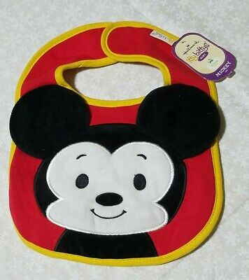 Hallmark Itty bittys baby Mickey Mouse bib New disney red yellow soft