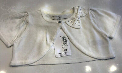 Marks & Spencer Baby Girls Cream Shrug With Bow Age 2-3 Years BNWT