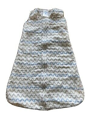 Halo Sleep Sack Size Small 0-6 Months Blue & Gray Chevron 10-18 Lbs