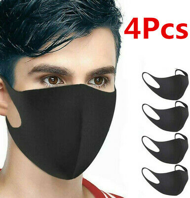(4Pcs) Face Mouth Reusable Washable Anti Facial Shield Pollution Protective New
