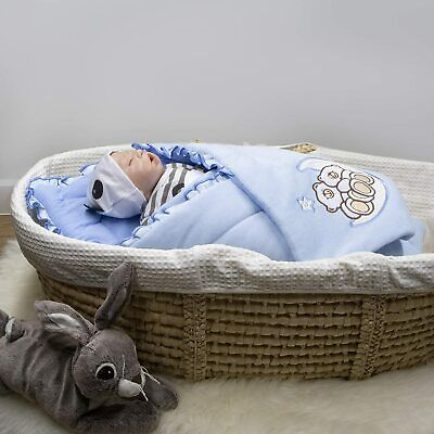 BlueberryShop Baby Swaddle Wrap Bedding Blanket Sleeping Bag blue