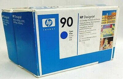 New Genuine HP 90 Cyan Ink Cartridge Printhead DesignJet 4500mfp DesignJet 4020