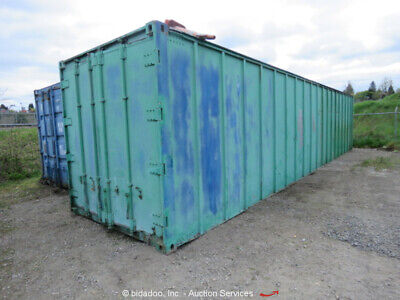 40' Industrial Dry Storage Shipping Container Shop Work Space bidadoo