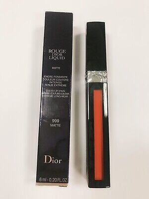 Dior Rouge Liquid Lip Stain 999 Matte Red full size 6ml box new