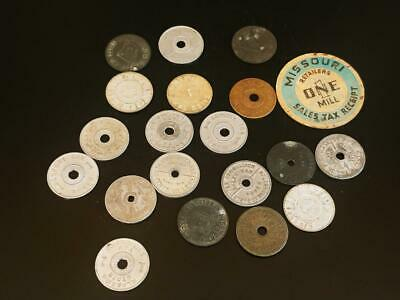 Vintage Lot of 20 Sales Tax Tokens Take a Look
