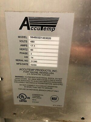 Double Stack Used Accutemp Convection Steamer Ovens S64803D1403020 w/Stand
