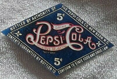 8 Reproduction Pepsi Cola Straight Side Diamond Labels Not Original No Bottle