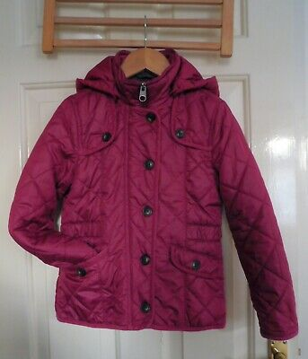 Girl Quilted lightly Padded Hooded Jacket size age 7 /EU 128cm