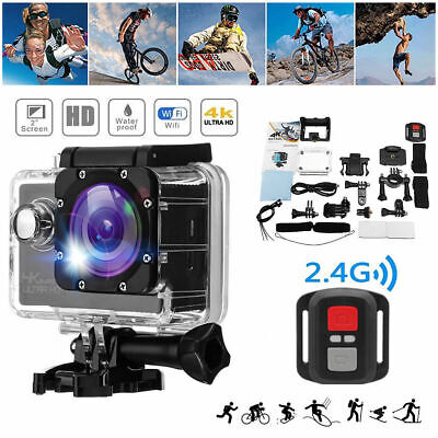 Full HD 1080P Action Camera 4K Sports DVR Video With WIFI+Remote Camcorder