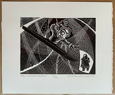 The Wicked Shaman - Wood Engraving Print by Dale DeArmond 29/100 1987
