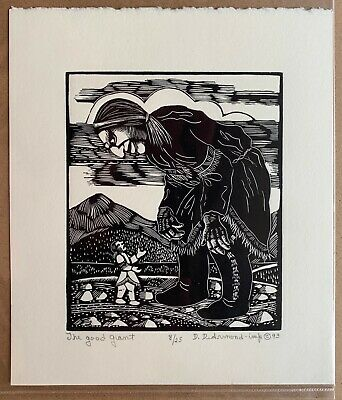 The Good Giant - Wood Engraving Print by Dale DeArmond 8/25 1993