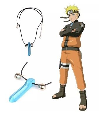 "Naruto Blue Crystal Anime Tsunade Necklace Pendant Cosplay 2"" US Seller"