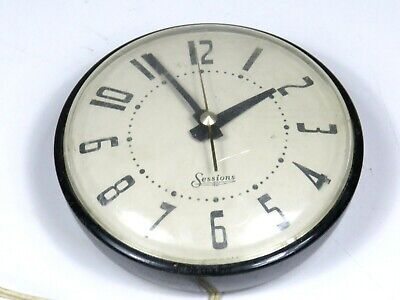 Vintage Sessions Electric Wall Clock WORKS Forestville Connecticutt