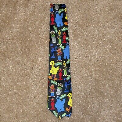 Sesame Street Neck Tie Elmo Big Bird Cookie Monster Bert Ernie Grover Oscar