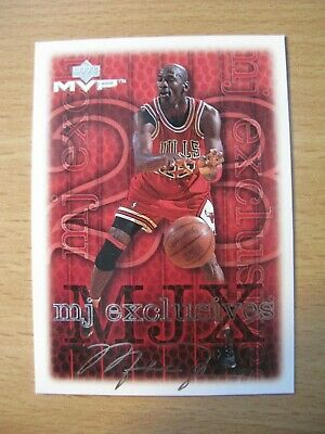 Michael Jordan Chicago Bulls 1999 U.D.  MVP MJ Exclusives #201 Silver Script
