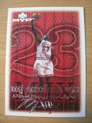 Michael Jordan Chicago Bulls 1999 U.D.  MVP MJ Exclusives #183 Silver Script