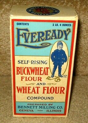 Antique Eveready Flour Advertising Store Display Box , Bennett Milling Co.