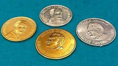 4 Governor George Wallace Coins/Tokens