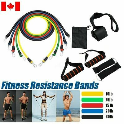 11 Pcs/set Resistance Bands Gym Fitness Workout From Home Yoga Training
