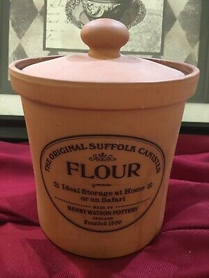 The Original Suffolk Large Flour Canister by Henry Watson Pottery
