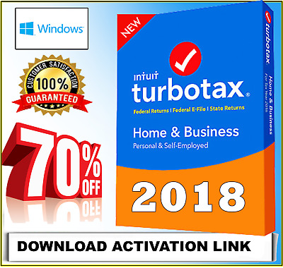 TurboTax Home & Business 🔻 2018 🔻Federal +State DOWNLOAD ✅⭐ 70% OFF ✅⭐