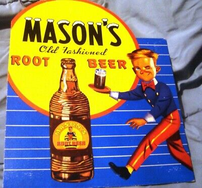 Masons Old Fashioned Root Beer Cardboard Display Sign