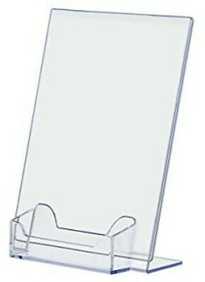 5 x 7 Acrylic Sign Display / Picture Frame with Business Card Holder (24 pieces)
