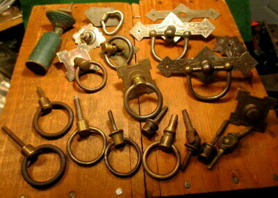 Large Lot Victorian Spool Cabinet Ring Drawer Pulls Sewing Machine Drawer Pull